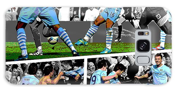 Sports Galaxy Case - Sergio Aguero Goal Vs Qpr by Pro Prints