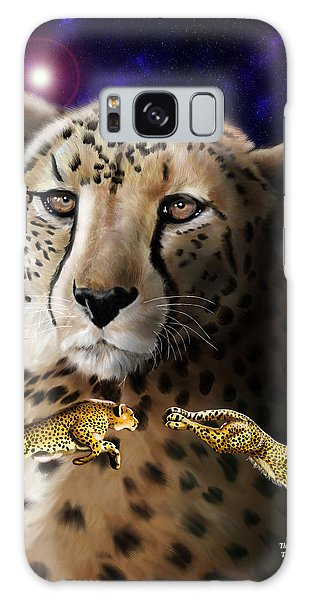 First In The Big Cat Series - Cheetah Galaxy Case by Thomas J Herring