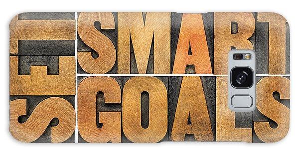 Set Smart Goals In Wood Type Galaxy Case