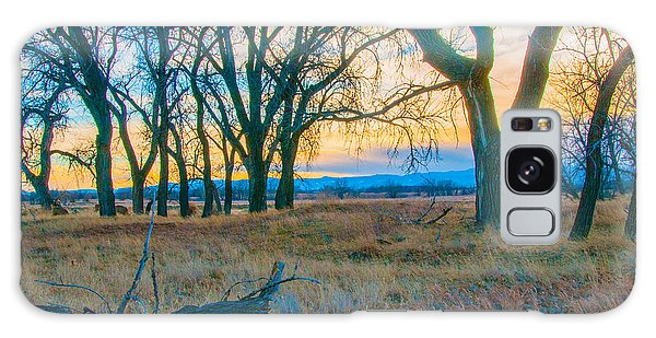 Setting Sun At Rocky Mountain Arsenal_1 Galaxy Case