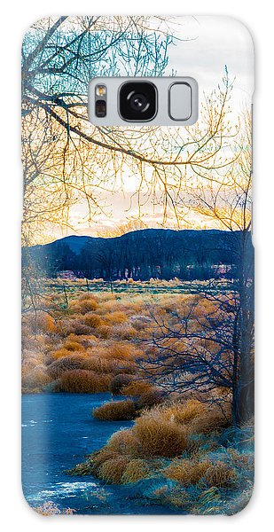 Setting Sun At Rocky Mountain Arsenal_2 Galaxy Case