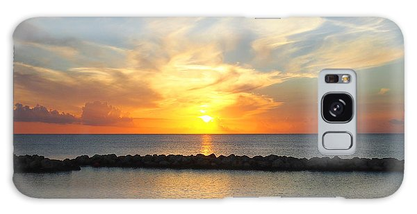 Seven Mile Sunset Over Grand Cayman Galaxy Case by Amy McDaniel