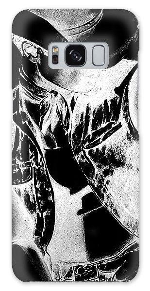 Print With Black And White Sexy Cowboy  Galaxy Case