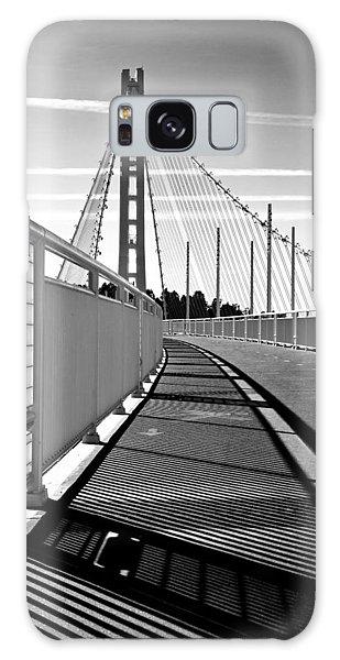 Sf Bay Bridge Pedestrian Path In Bw Galaxy Case