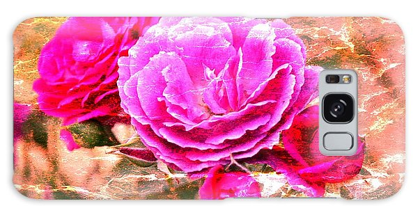 Shabby Chic Roses 2 Galaxy Case by Erica Hanel