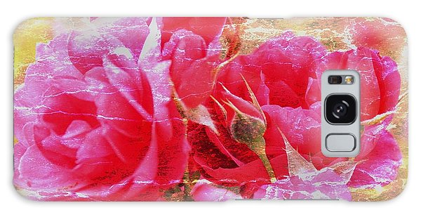 Shabby Chic Roses Galaxy Case by Erica Hanel