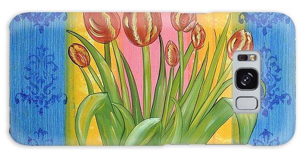 Shabby Chic Tulips Galaxy Case