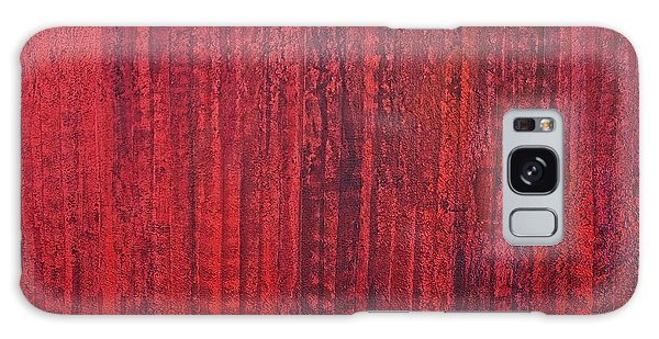Shades Of Red Galaxy Case by James Mancini Heath
