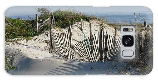 Shadow Fence Galaxy Case by Ellen Meakin