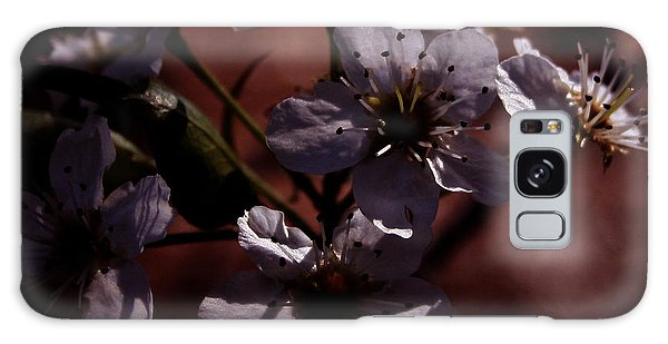 Shadowed Flowers Galaxy Case