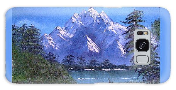 Shadowed Mountain Lake Galaxy Case