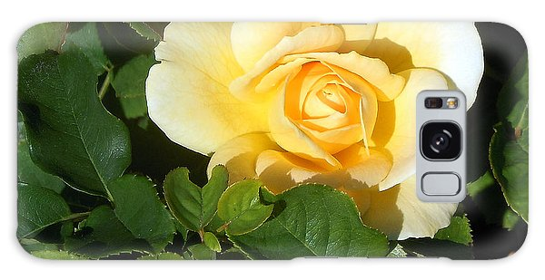 Shadowed Yellow Rose Galaxy Case