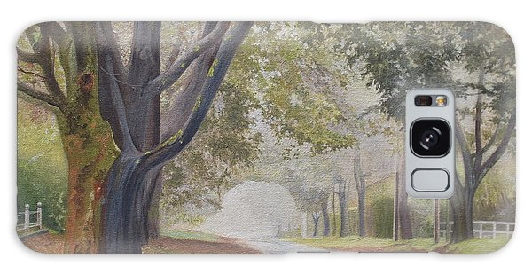 Shadow And Fog Down Beautiful Atlantic Avenue Galaxy Case by Barbara Barber