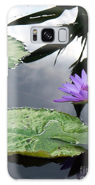 Shadows On A Lily Pond Galaxy Case by Eric  Schiabor