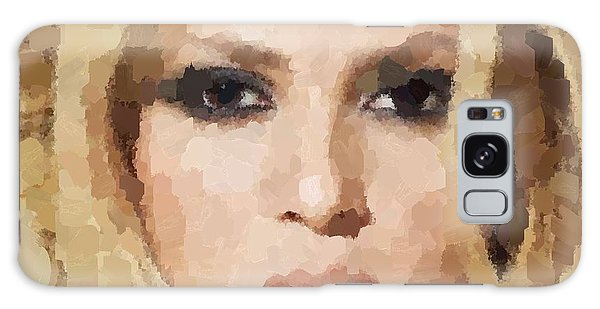 Shakira Portrait Galaxy Case by Samuel Majcen