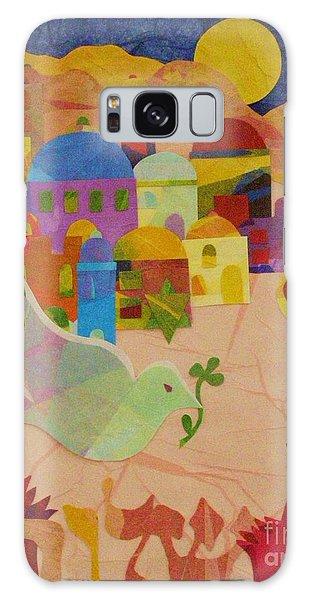 Shalom  Galaxy Case by Diane Miller