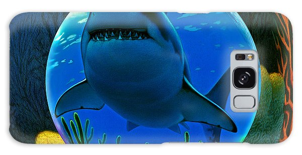 Sharks Galaxy Case - Shark World  by Robin Moline