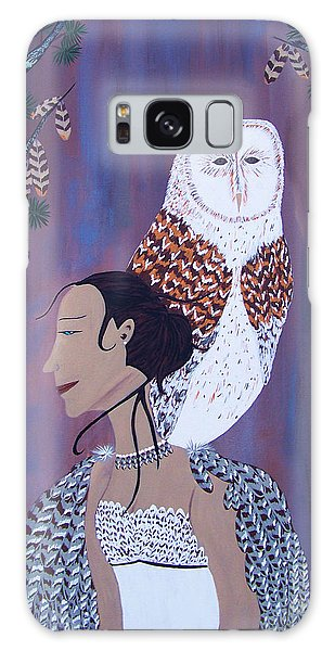 She Flies With The Owls Galaxy Case