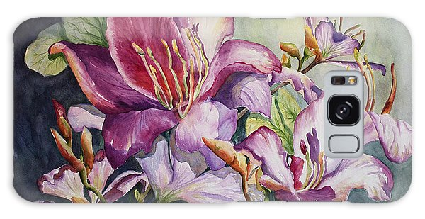 She Love Radiant Orchids Galaxy Case by Roxanne Tobaison