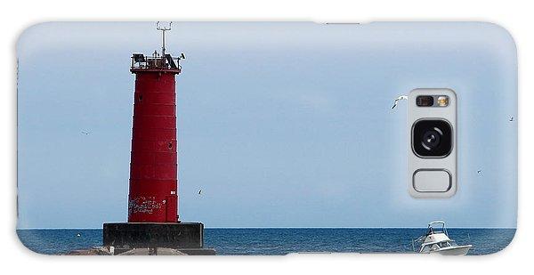 Sheboygan Breakwater Lighthouse Galaxy Case