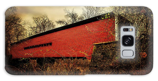 Sheeder Hall Covered Bridge 2 Galaxy Case