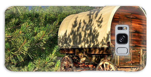 Sheep Herder's Wagon Galaxy Case by Donna Kennedy