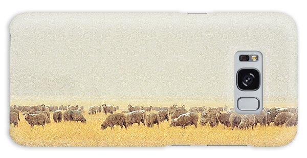 Sheep In Snow Galaxy Case by Kae Cheatham