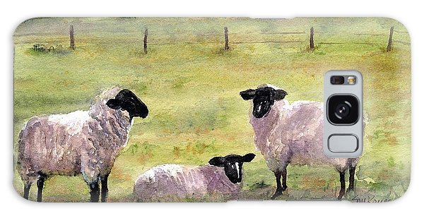 Sheep In The Meadow Galaxy Case