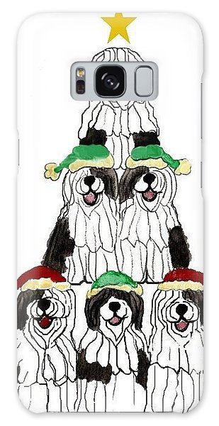 Sheepdog Christmas Tree Galaxy Case