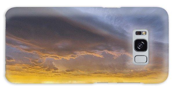 Shelf Cloud At Sunset Galaxy Case