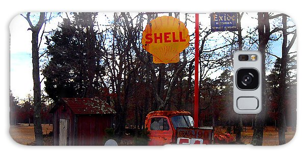 Shell Gas Station And Out House Galaxy Case