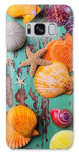 Shells On Old Green Board Galaxy Case