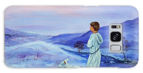 Galaxy Case - Shepherd Boy by Anne Kushnick
