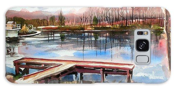 Shepherd Mountain Lake In Winter Galaxy Case