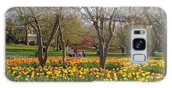 Sherwood Gardens Yellow Tulips Galaxy Case