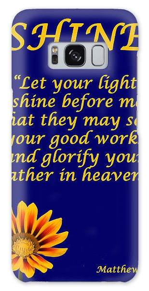 Shine Christian Poster Galaxy Case