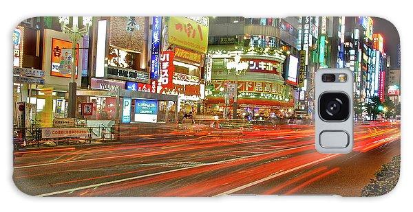 Shinjuku Neon Strikes Galaxy Case
