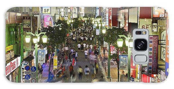Shinjuku Street Scene At Night Galaxy Case