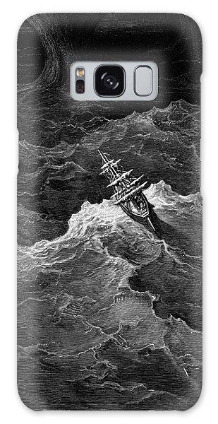 Engraving Galaxy Case - Ship In Stormy Sea by Gustave Dore