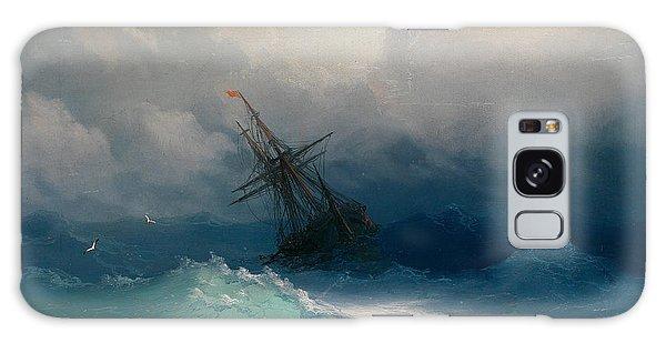 Ship On Stormy Seas Galaxy Case