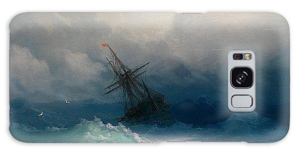 Ship On Stormy Seas Galaxy Case by Ivan Konstantinovich Aivazovsky