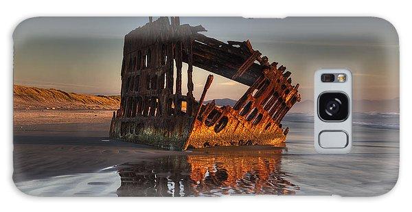 Shipwreck At Sunset Galaxy Case