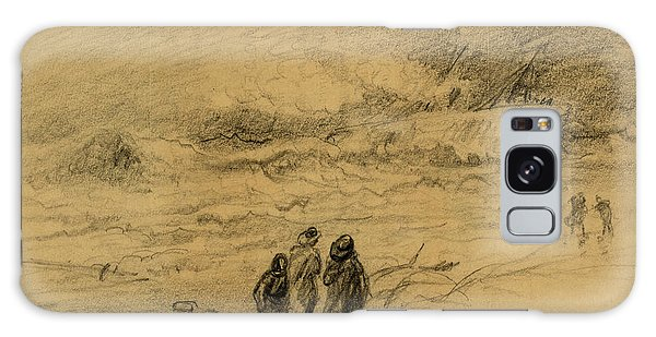 Shipwreck Galaxy Case - Shipwreck In A Storm With Figures Looking On, 1860-1865 by Quint Lox