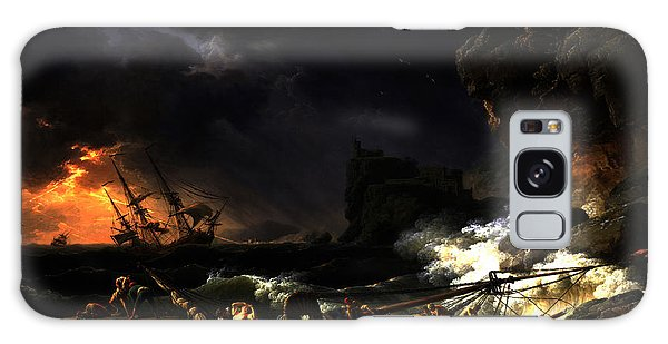 Shipwreck In A Thunderstorm Galaxy Case by Joseph Vernet