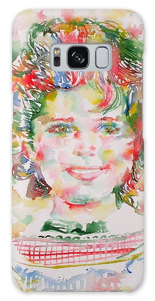 Shirley Temple - Watercolor Portrait.1 Galaxy Case
