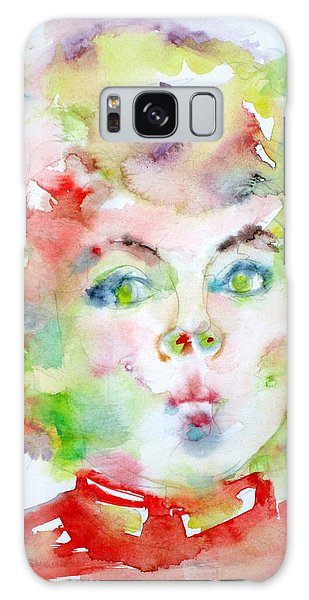 Shirley Temple - Watercolor Portrait.2 Galaxy Case