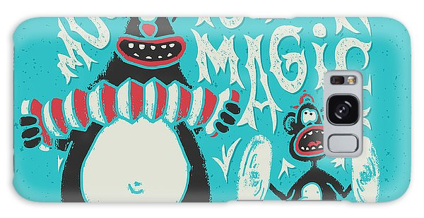 Magician Galaxy S8 Case - Shirt Print With Band Of Circus Monkey by Gleb Guralnyk