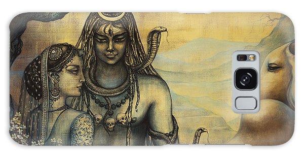 Shiva Parvati . Spring In Himalayas Galaxy Case