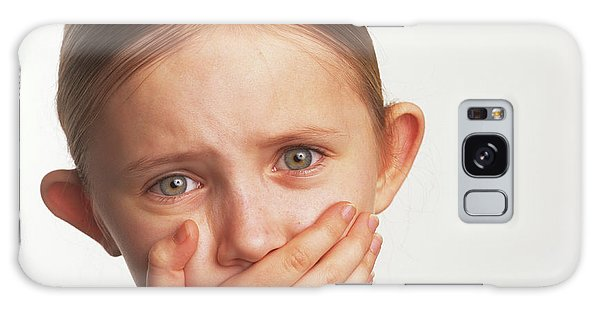 Hiding Galaxy Case - Shocked Girl by Ron Sutherland/science Photo Library