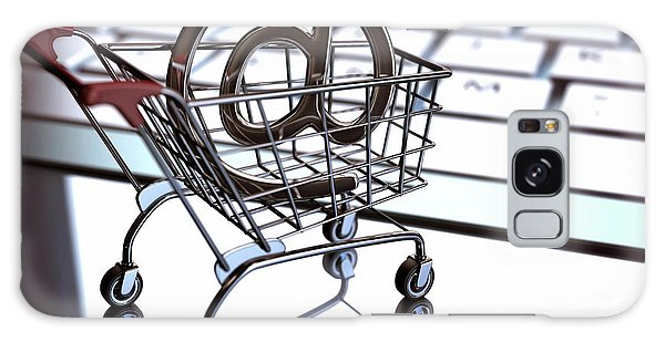 Online Shopping Cart Galaxy Case - Shopping Trolley With An 'at' Sign by Ktsdesign